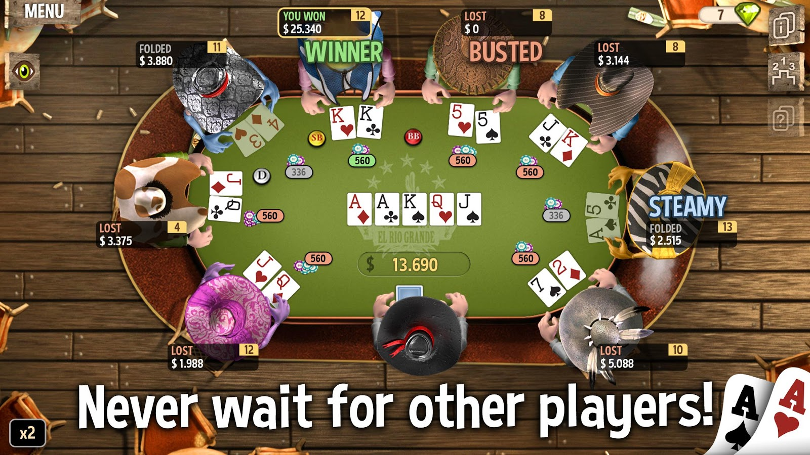 Governor of poker 1 para android